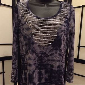Top with tie dye and embellishments